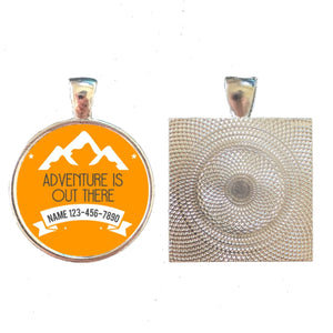 """Adventure is Out There"" Personalized Dog ID Tag"