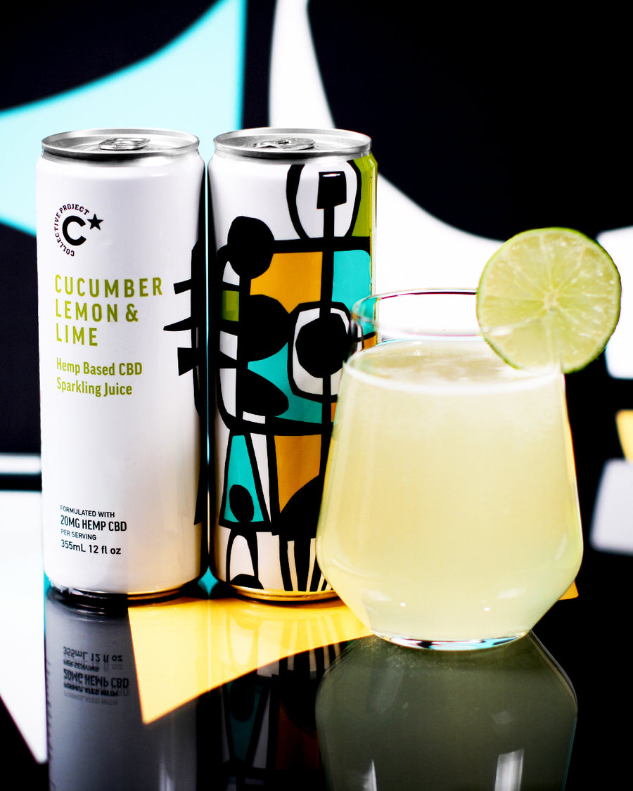 Sparkling Juice: Cucumber, Lemon & Lime