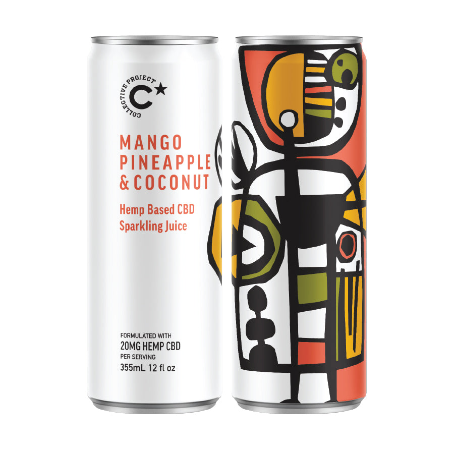 Sparkling Juice: Mango, Pineapple & Coconut