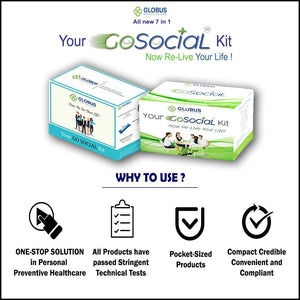 GoSocial Healthkit Combo WHITE GREEN- Pack of 10
