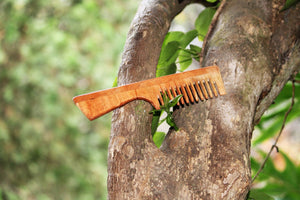 Wooden Neem Comb Pair - Pack of 5