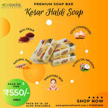 Load image into Gallery viewer, SuAyu Haldi Kesar Soap | (Pack of 3, 5, 10, 20) at lowest price