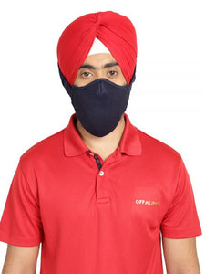 The Khalsa Mask (Navy Blue) 555 Offer - 5 Masks + 5 Sanitisers + 5 Anti-Bacterial Wipes Boxes (5x10 Wipes)