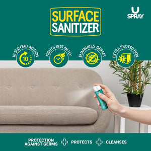 U-SPRAY Surface Sanitiser 50ML - Pack of 2