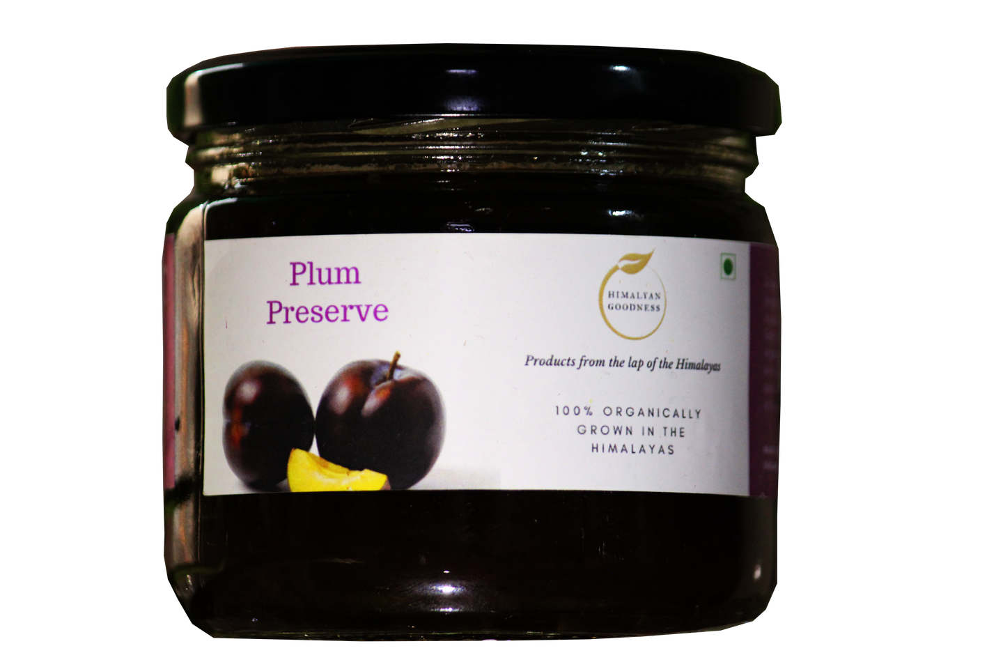 HG Organic Plum Preserve (350gm) - Natural | High on Fruit and Low on Sugar | Favorite with Kids