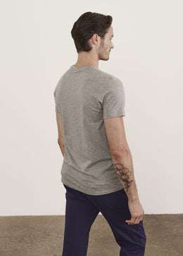 Patrick Assaraf Iconic Pima Cotton Stretch T-Shirt in Grey
