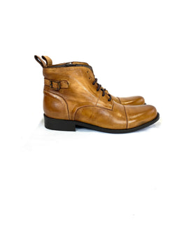 Hamlet Twelve Leather Boot in Light Brown
