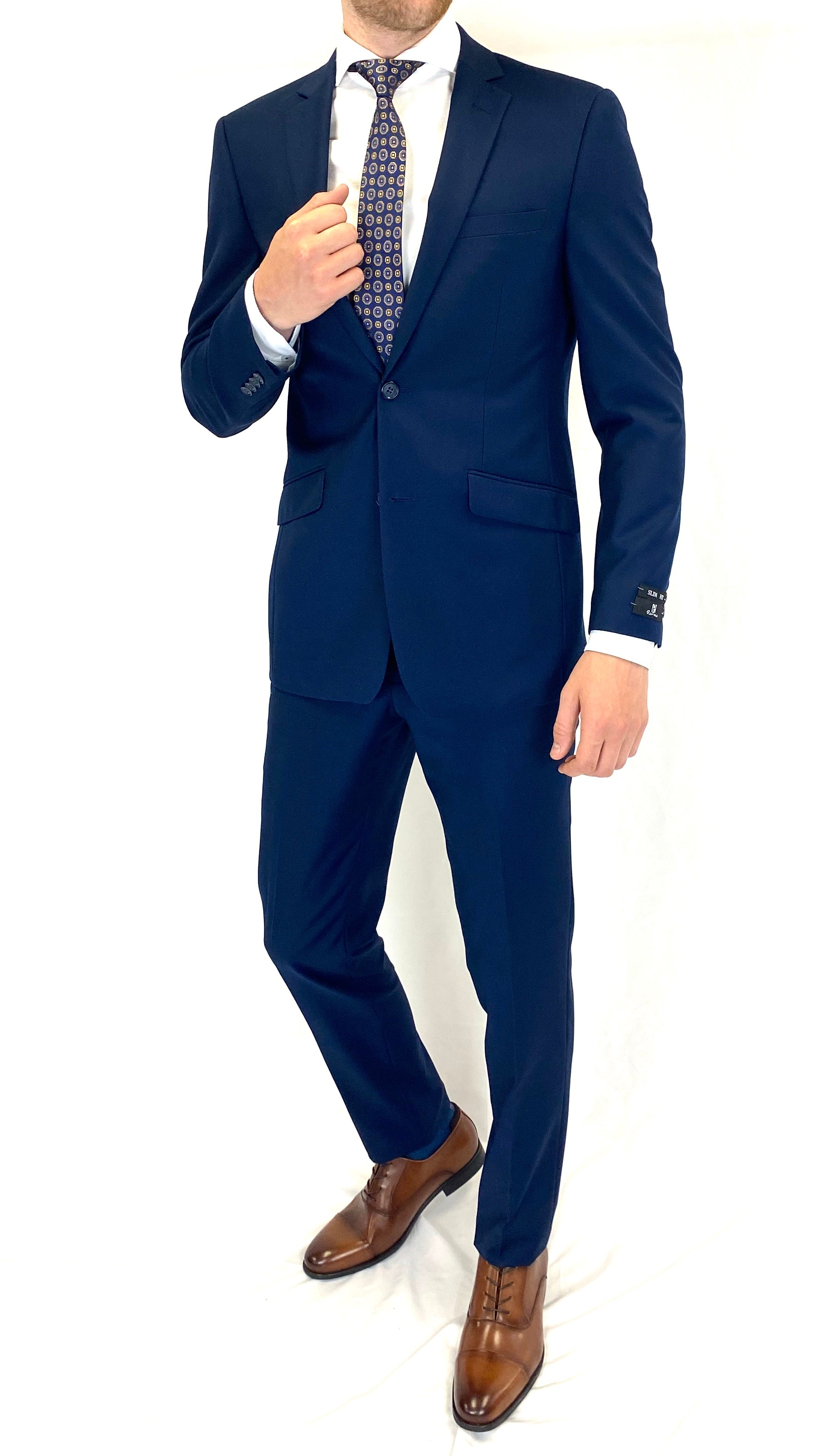 Renoir Slim Fit Suit in Navy