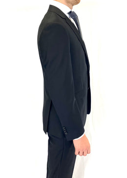 Paul Betenly Wool Suit in Black