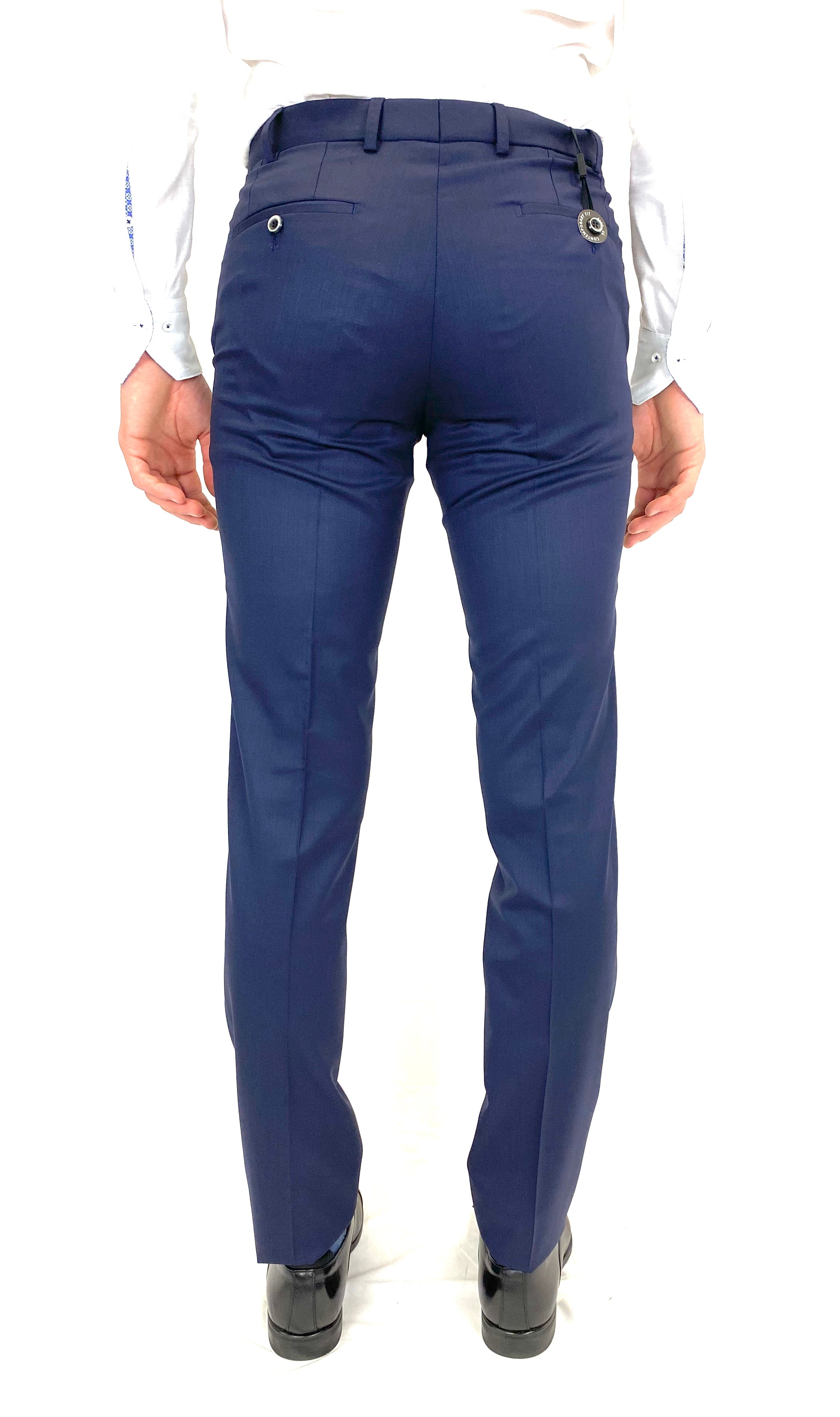 Hiltl Contemporary Fit Dress Pant in Navy