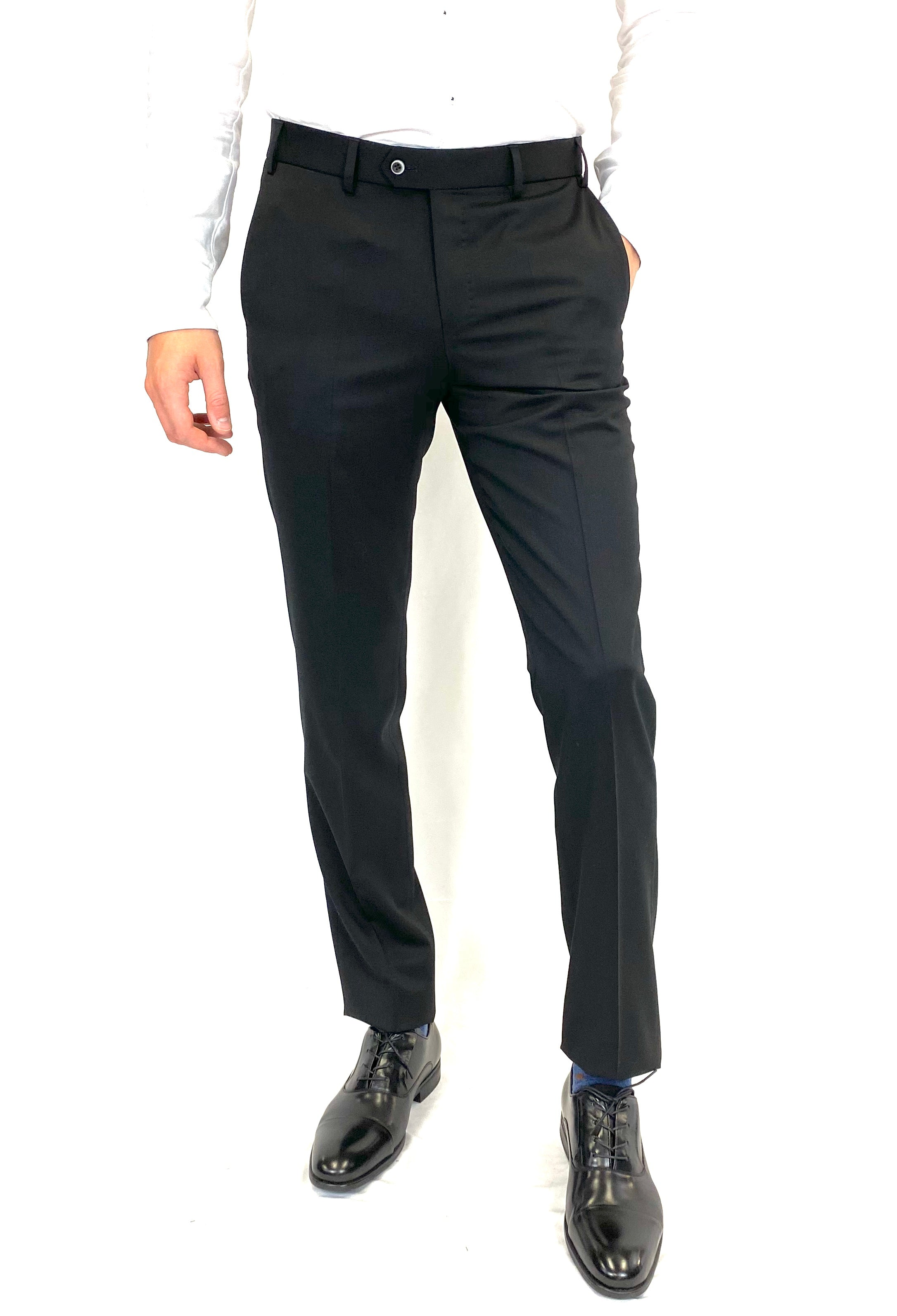 Hiltl Contemporary Fit Dress Pant in Black