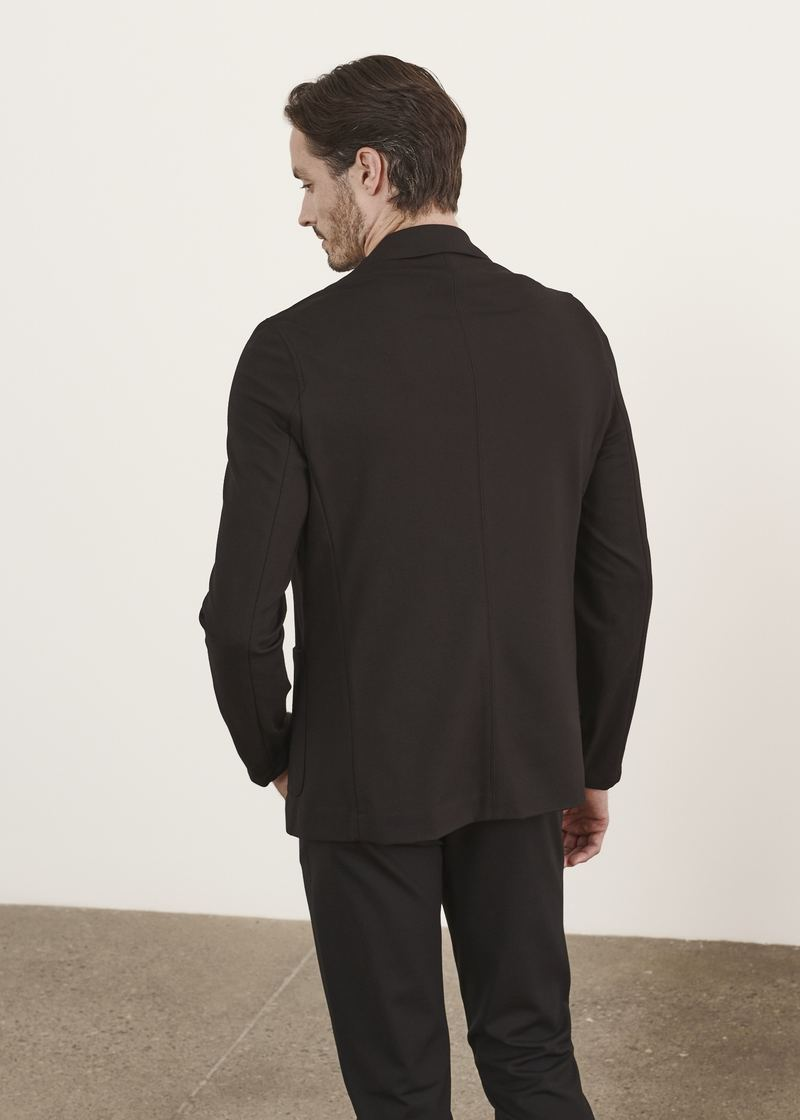 Patrick Assaraf Jersey Sport Jacket in Black