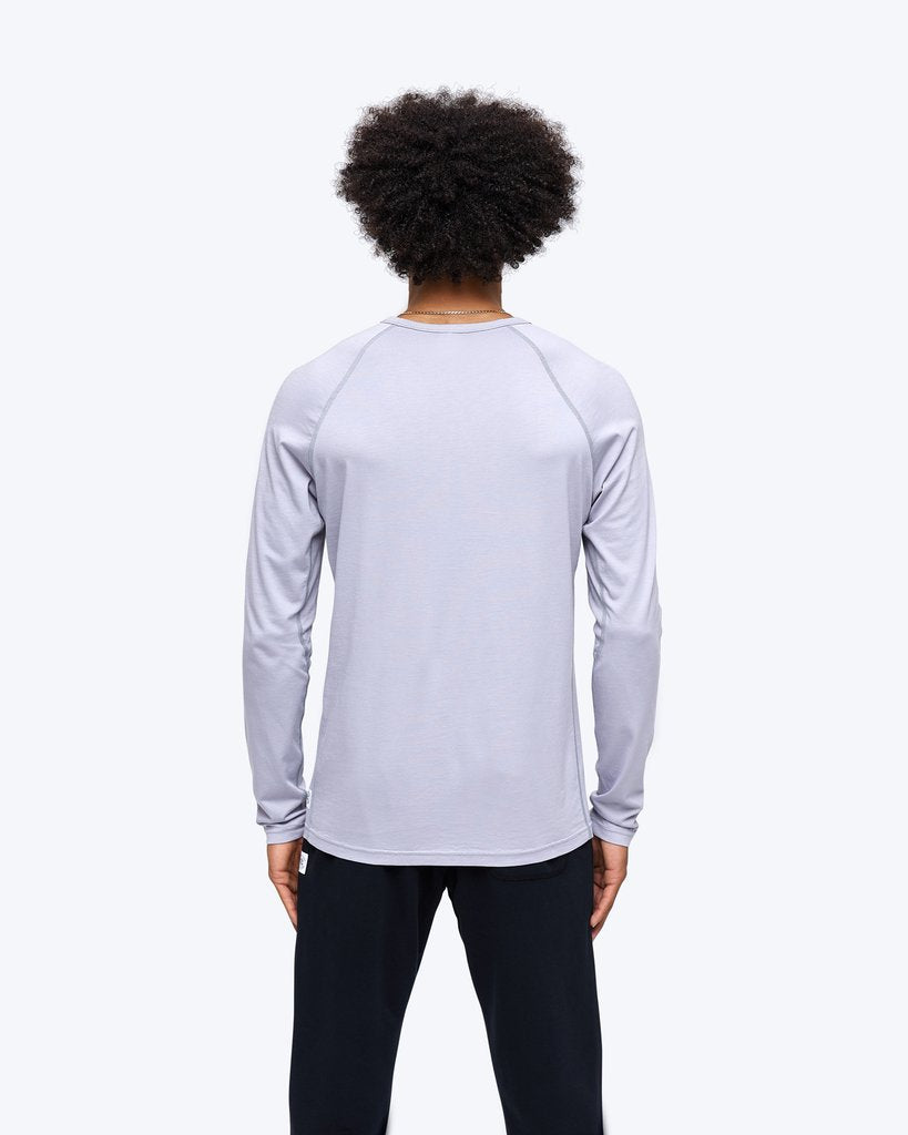 Reigning Champ Pima Jersey Long Sleeve in Mist