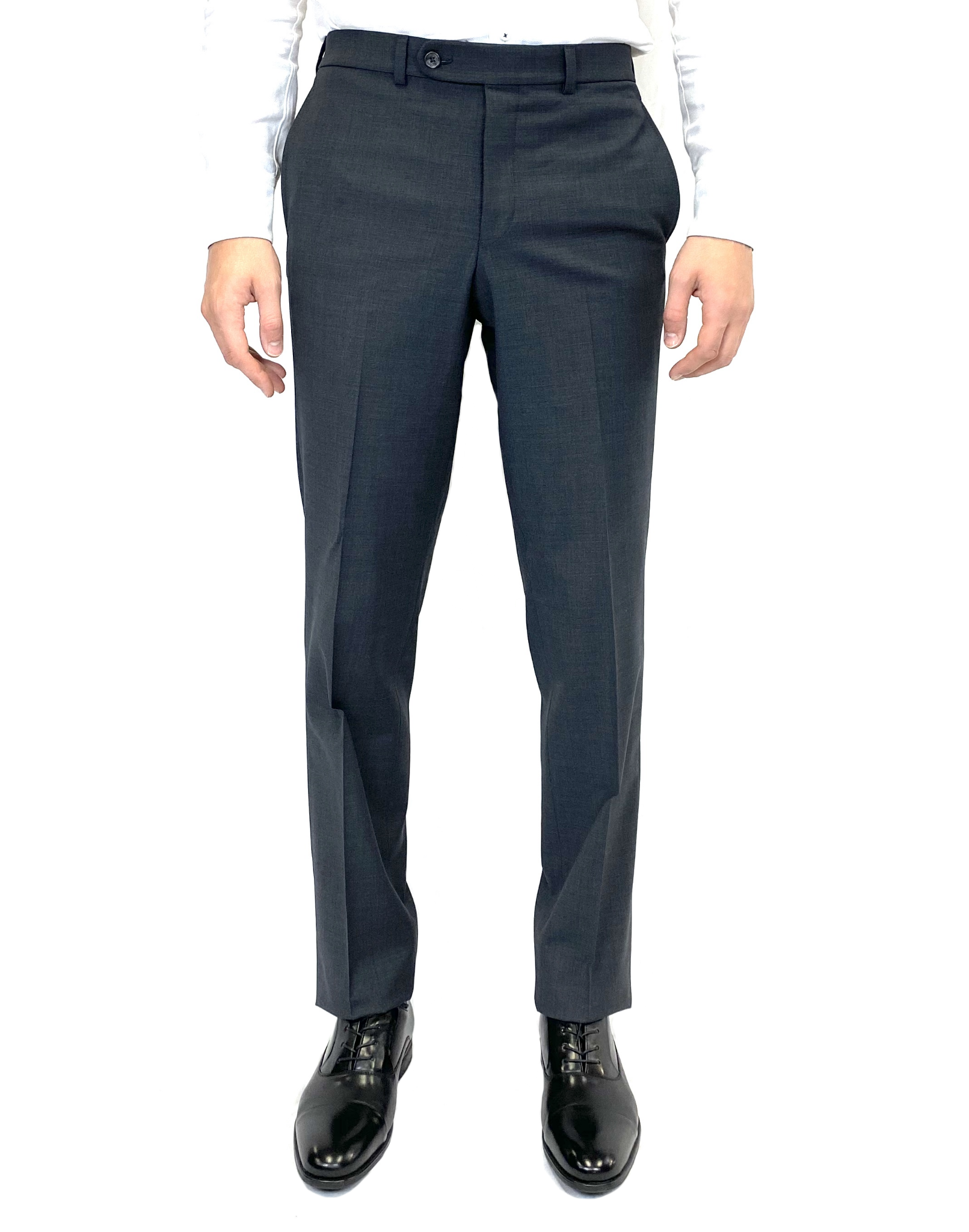 Riviera Classic Fit Traveler Dress Pant in Charcoal