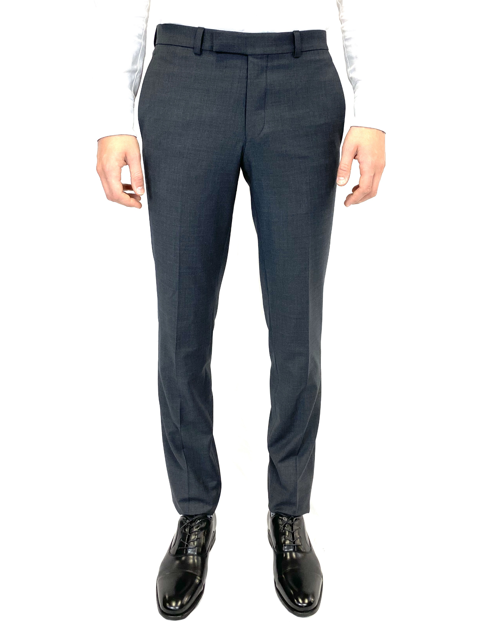 Riviera Slim Fit Yuri Dress Pant in Charcoal