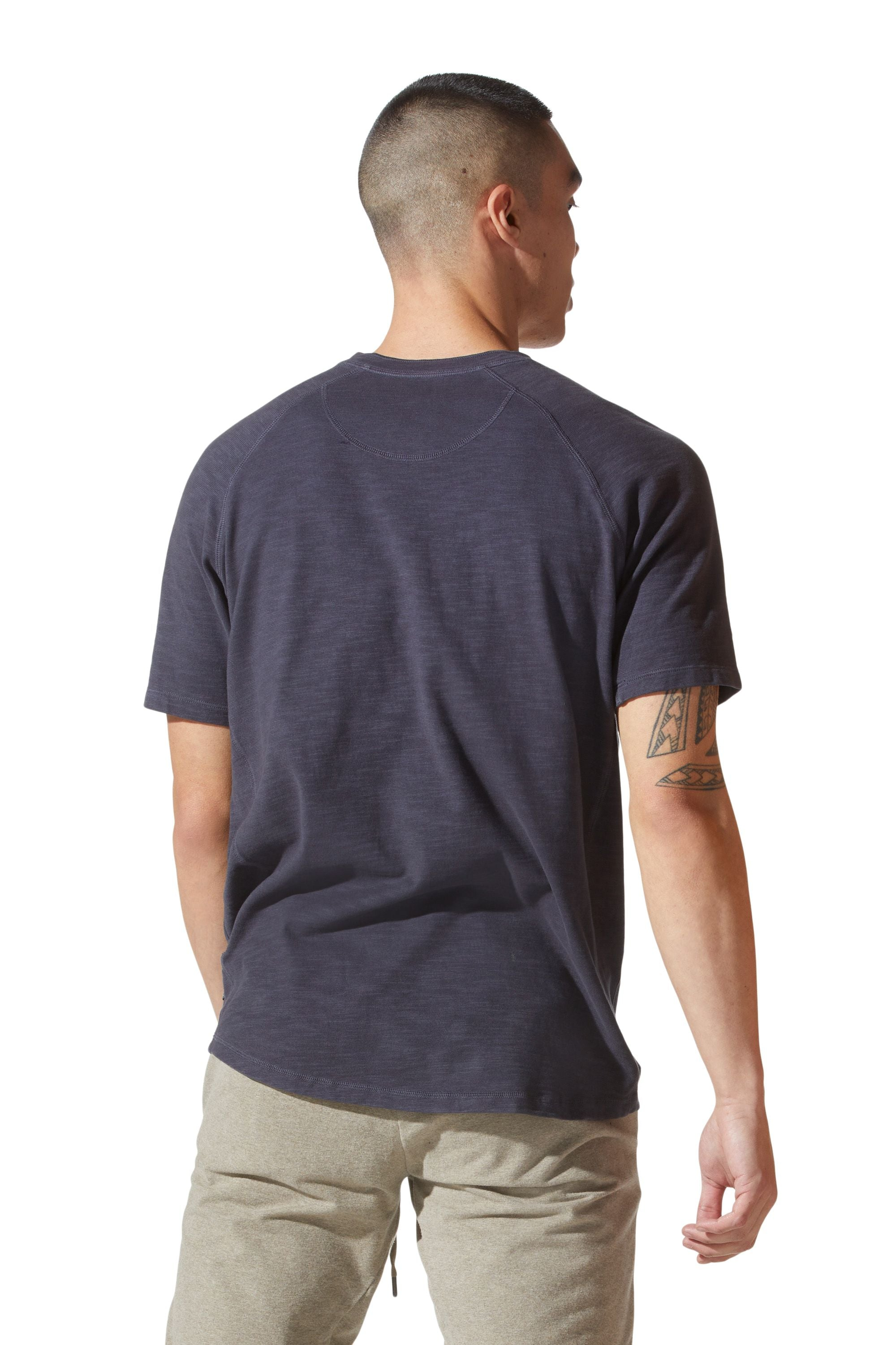 Good Man Brand Short Sleeve Henley in India Ink