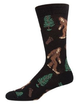Bigfoot Men's (Black) Crew socks