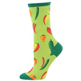 A Little Chili (Green) Women's Crew Sock