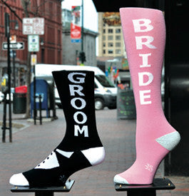 BRIDE Knee Highs and GROOM Crew Socks