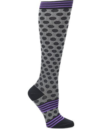 Comfortiva Sporty Dot  (Black) Compression Socks