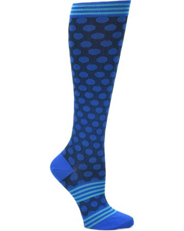 Comfortiva Sporty Dot  (Navy) Compression Socks