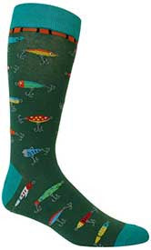 Fishing Lures Men's Crew Socks