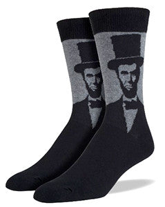 Abe Lincoln King Size Men's Socks
