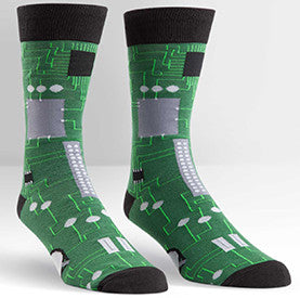 Circuit Board Men's Crew Socks
