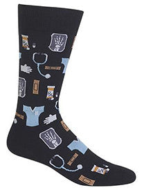 Doctor (Black) Men's Crew Socks