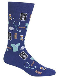 Doctor (Blue) Men's Crew Socks