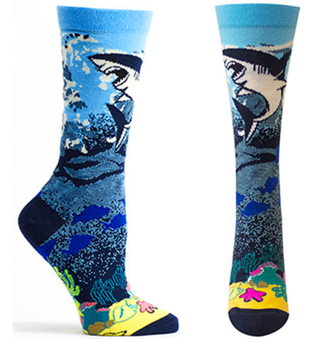 Great White Shark Women's Crew Socks