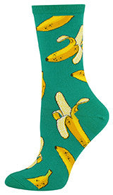 Bananas (Emerald) Women's Crew Socks