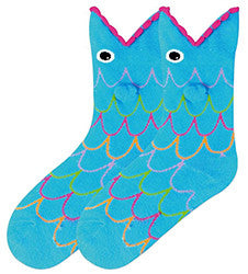 3-D Fish Kids' Socks
