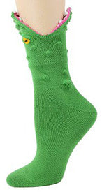 Alligator 3-D Women's Crew Socks