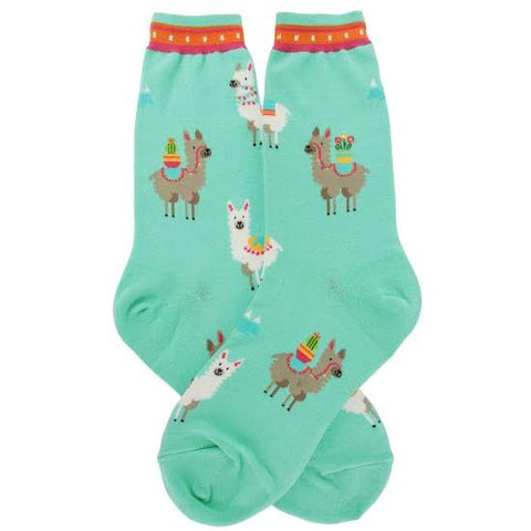 Happy Alpacas Women's Crew Socks