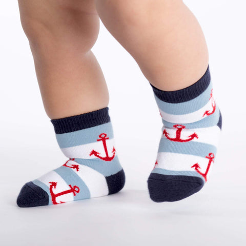Anchors Kids' (1-2) Crew Sock