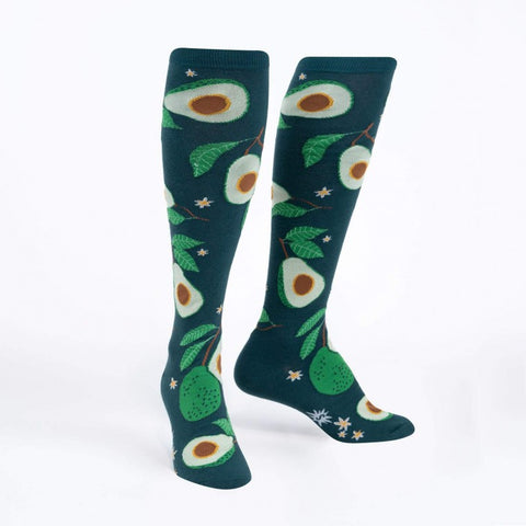 Avoca-Toes! Avocado Women's Knee Highs