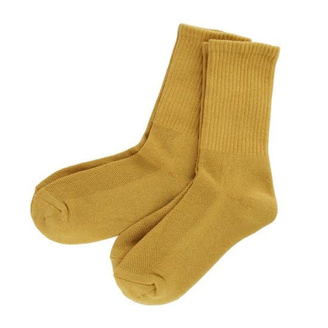 Bamboo 2 Pack (Mustard Yellow) Men's Crew Socks