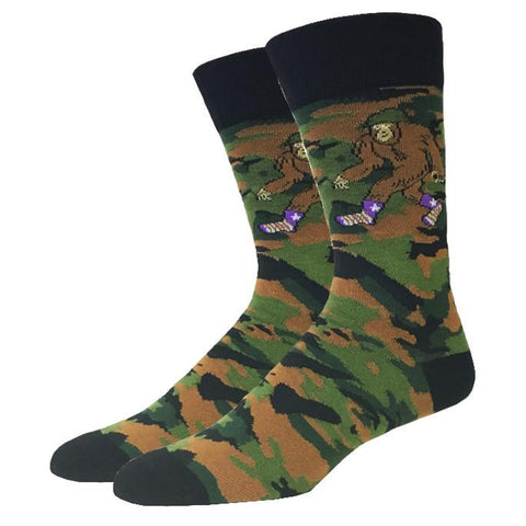 Camo Bigfoot Men's Crew Socks