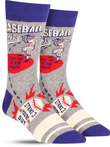 Baseball Men's Crew Socks