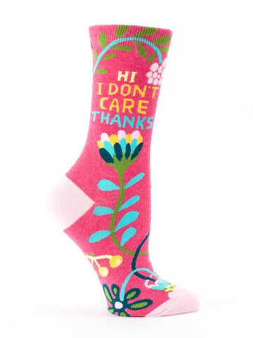 Hi, I Don't Care, Thanks Women's Crew Socks