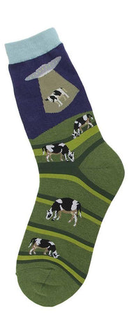 Bovine Abduction Women's Crew Socks