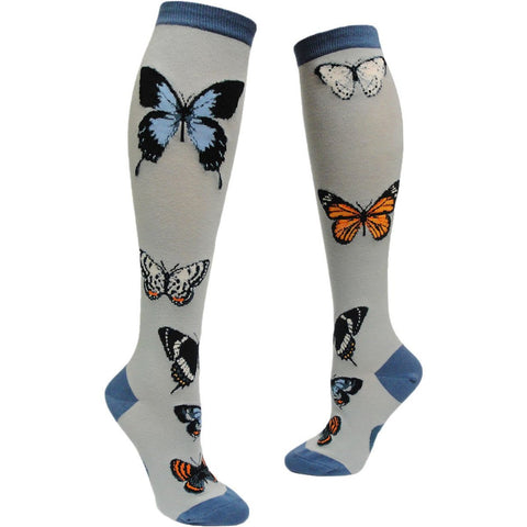Butterfly Garden (Frost) Women's Knee Highs