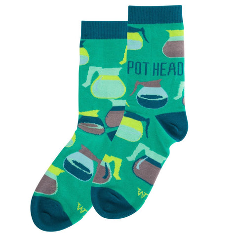 (Coffee) Pot Head Women's Crew Sock