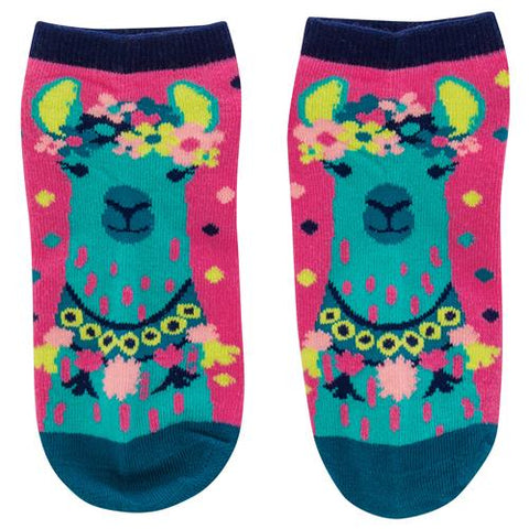 Colorful Llama Women's Ankle Sock