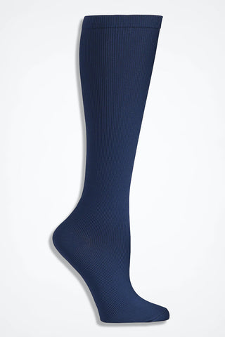 Comfortiva Solid Navy Blue Compression Socks