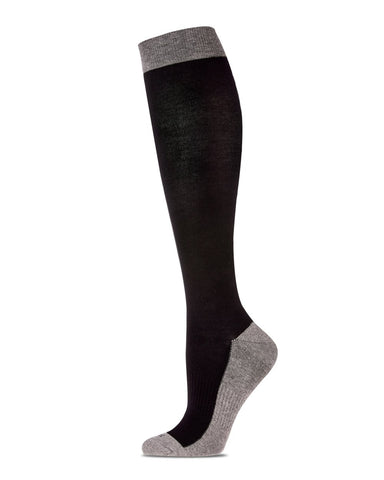Two-Tone Contrast (Grey/Black) Compression Socks