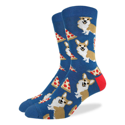 Corgi and Pizza Crew Unisex Crew sock (7-12)