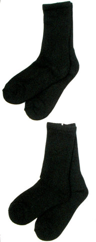Bamboo 2 Pack (Black) Men's Crew Socks