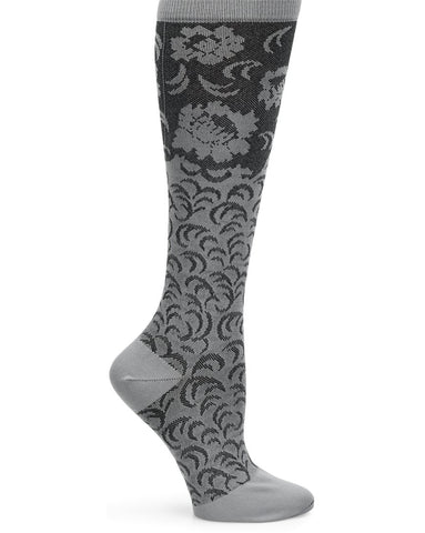 Comfortiva Damask (Grey) Compression Socks